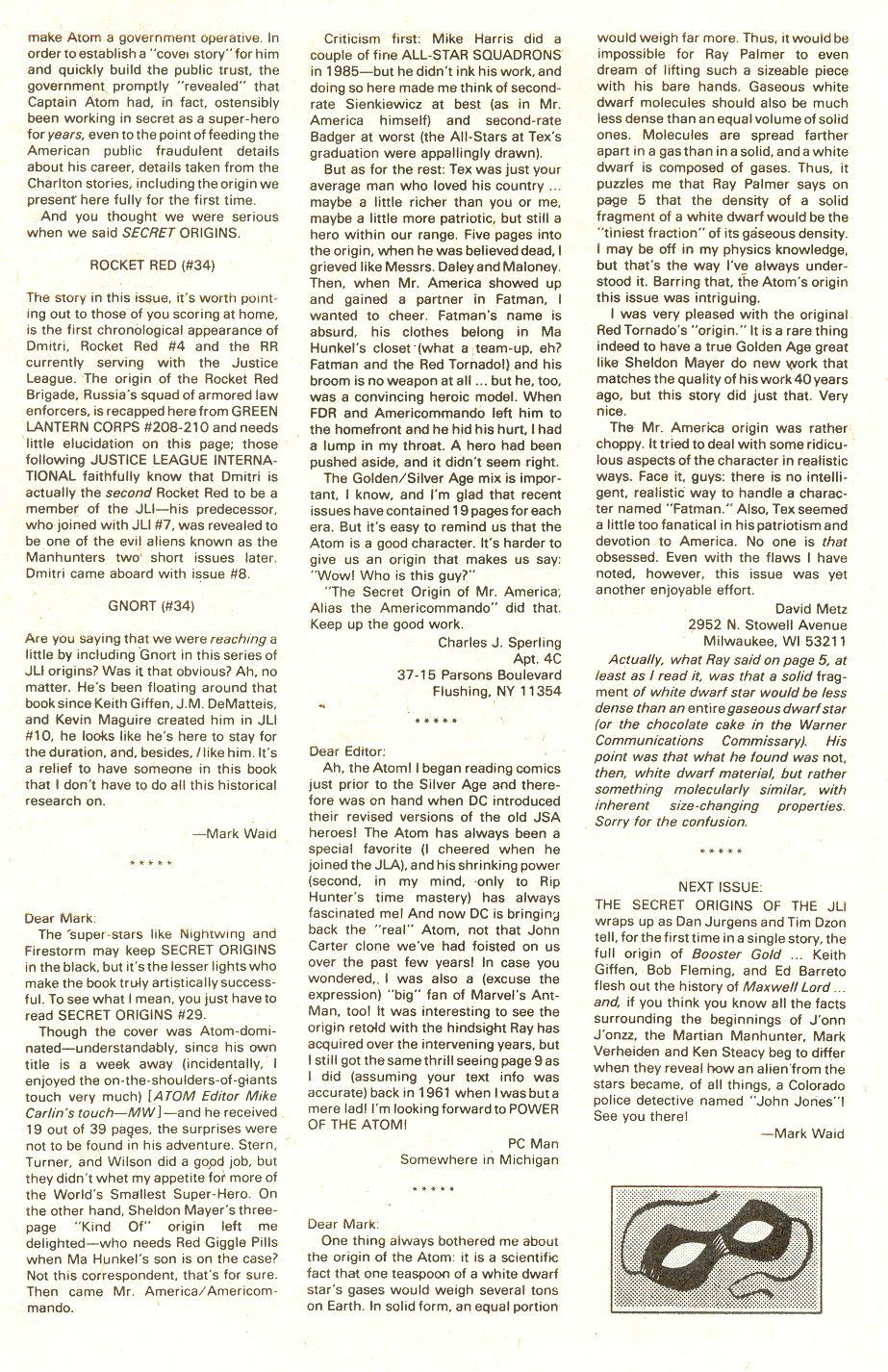Read online Secret Origins (1986) comic -  Issue #34 - 34