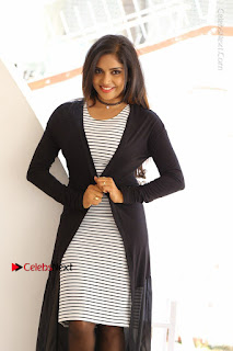 Telugu Actress Karunya Chowdary Stills in Black Dress at Soda Goli Soda Movie Opening  0267.JPG