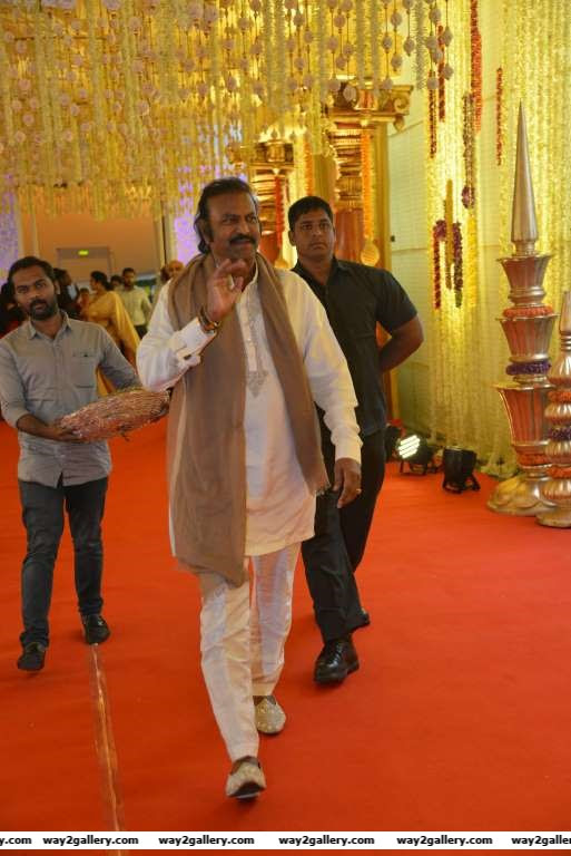 Mohan Babu arrives for Swathi and Pranavs wedding