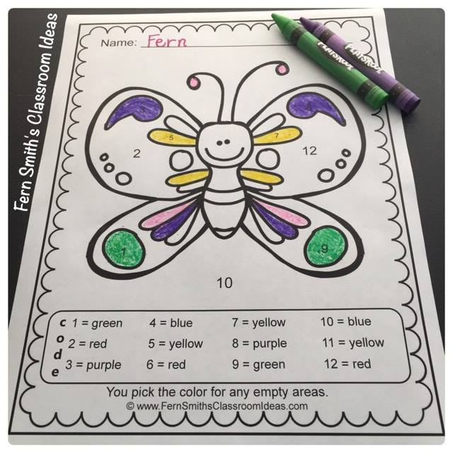 Are You Looking for Some Cute Spring Lessons to Review Numbers and Colors? Ten or Twenty Pages to Download, From Fern Smith's Classroom Ideas.