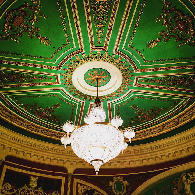One Day in Dublin Itinerary: The ceiling at the Gaiety Theatre