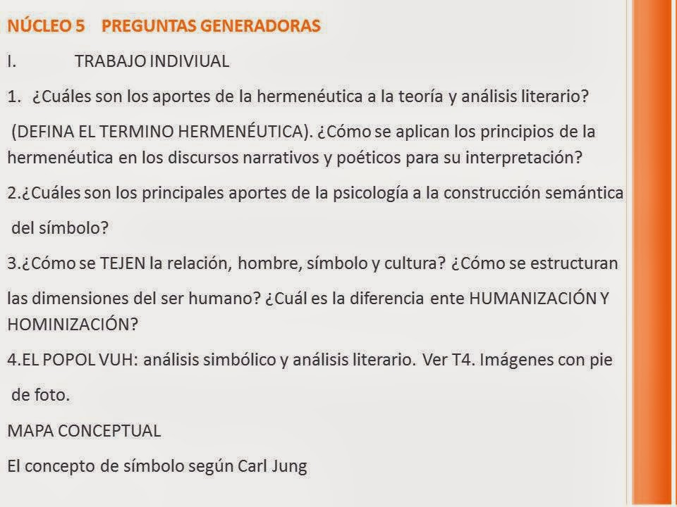 Literatura Y Lenguaje Simbolico Octubre 2013