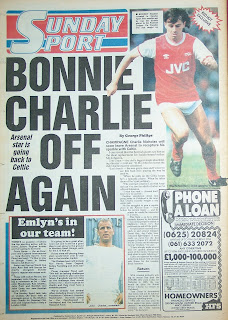 Old newspaper backpage Sunday Sport from 8 March 1987