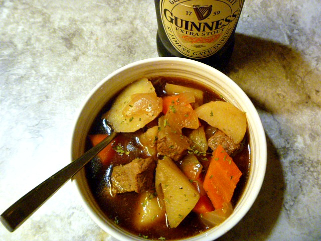 Classic Guinness Irish Beef Stew made in a slow cooker! Hearty and bold with the flavor of Guiness. - Slice of Southern