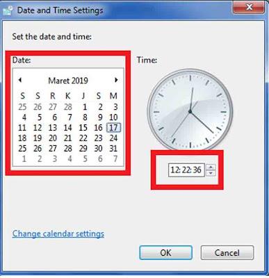 Cara Mengatur Jam dan Tanggal yang Salah di Laptop