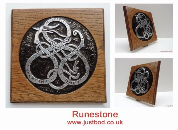 Runestone viking art wall plaque