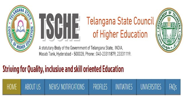 TSCHE Website, TSSCH, Telangana State Council of Higher Education Web Portal