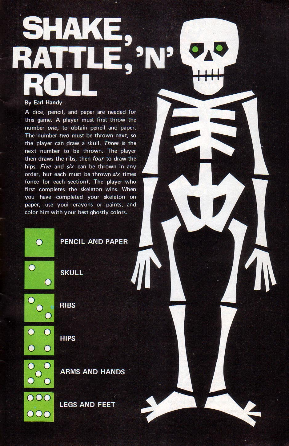 Shake Rattle And Roll | Skeleton / Dice game