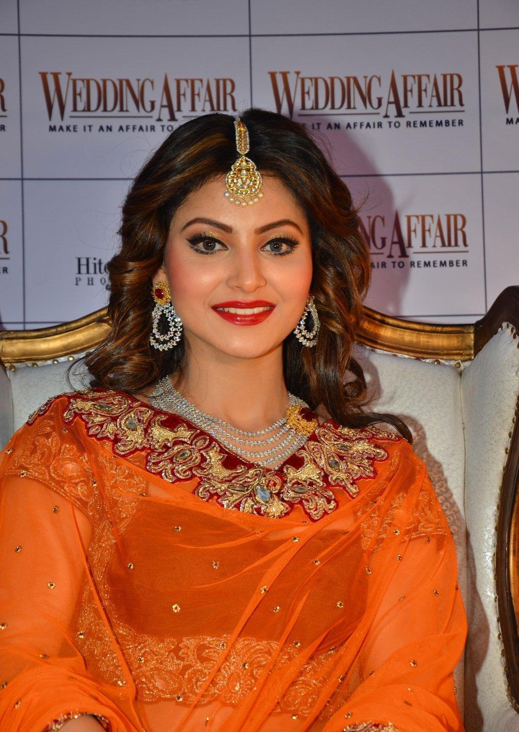 Urvashi Rautela Looks Gorgeous In Bridal Dress At