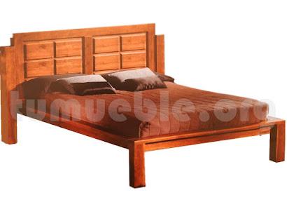 cama madera teca 4132