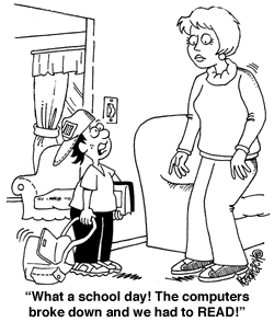 Our Classroom Blog: Funny Computers in School Cartoon