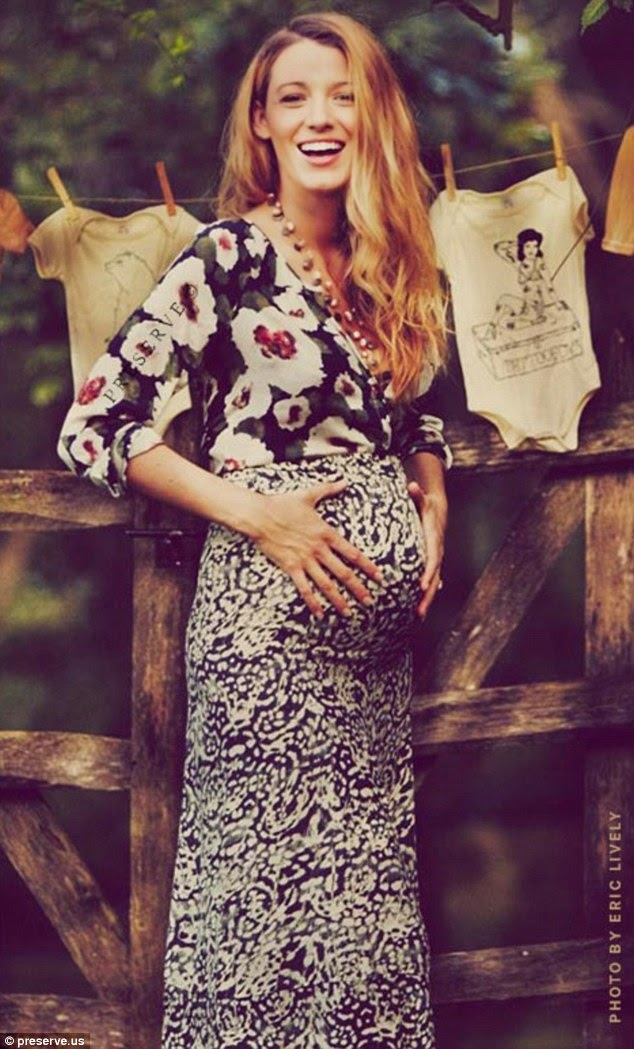 Blake Lively and her, of course, perfect bump, perfect baby shower, perfect ……