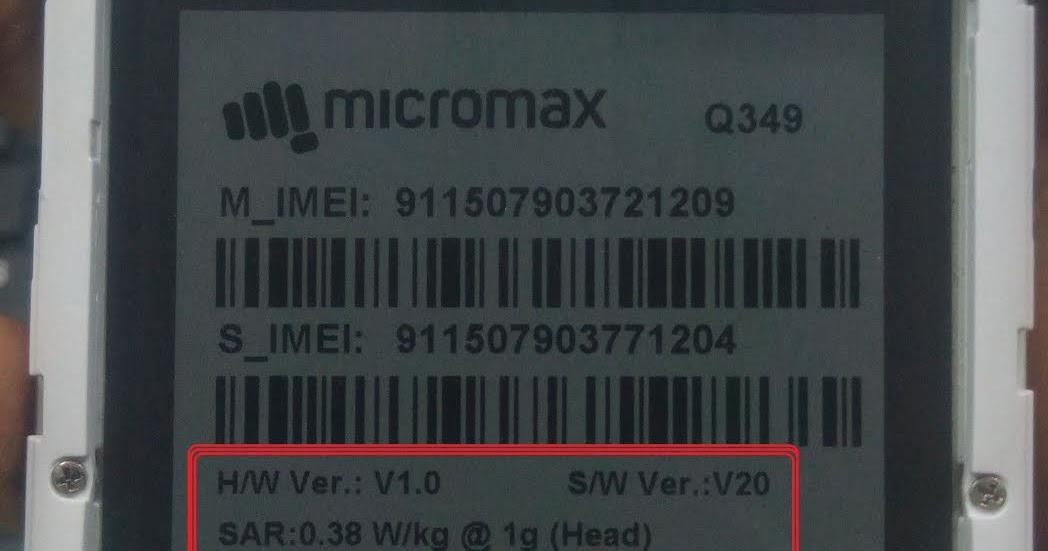 bk mobile zone: Micromax Q349 Flash File CM2 Read Firmware