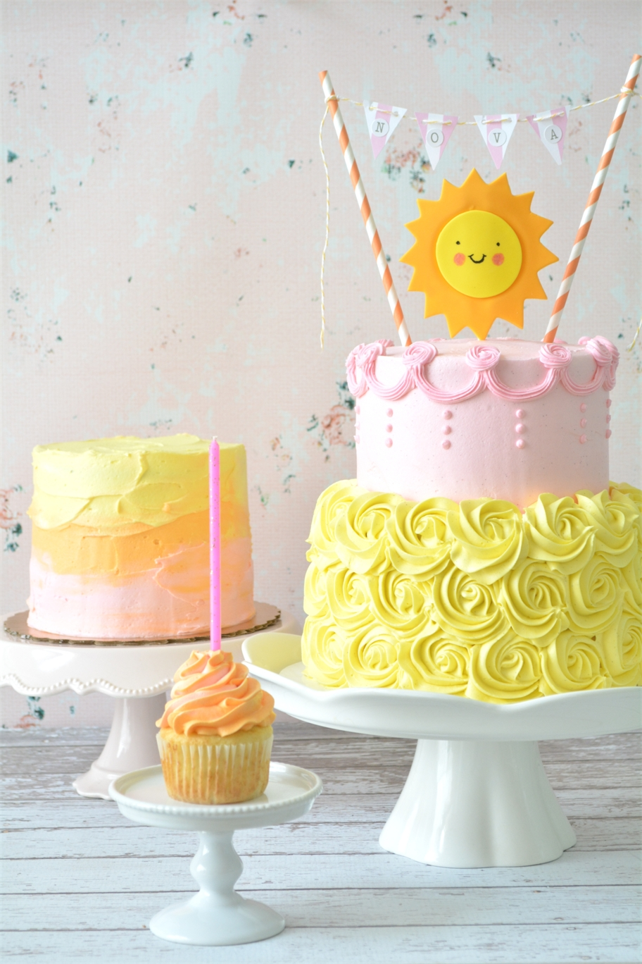 Curly Girl Kitchen: Sunshine Birthday Cakes
