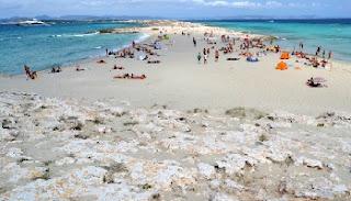 Playa de Ses Illetes en Formentera, España