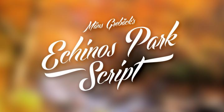Download Kumpulan 30 Font Script Desainer grafis - Echinos Park Script Font