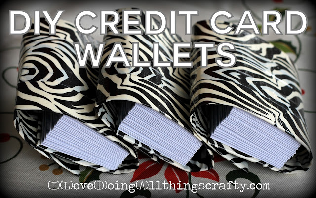 DIY Duct Tape Credit Card Wallets