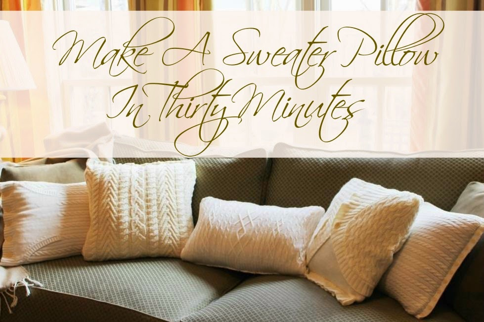 Make A Sweater Pillow In 30 Minutes