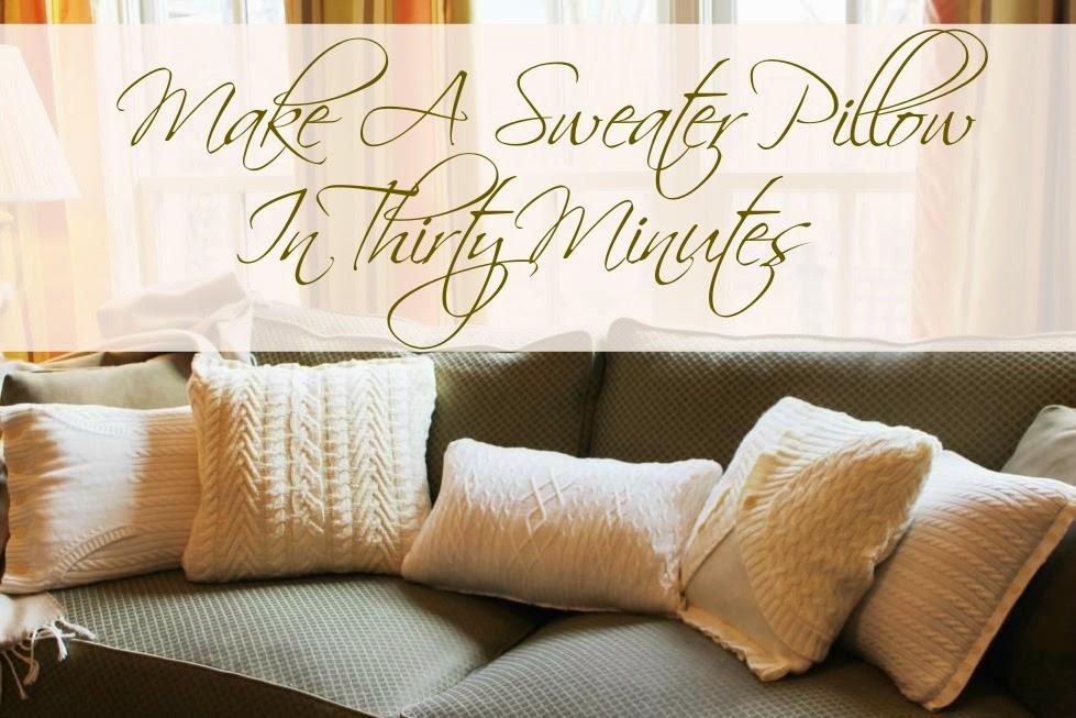 Make A Sweater Pillow In 30 Minutes | Miss Kopy Kat