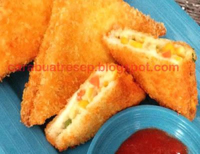 Resep Roti Tawar Goreng Isi Sayuran Renyah Crispy Sederhana Spesial Asli Enak CARA MEMBUAT ROTI TAWAR GORENG ISI SAYURAN