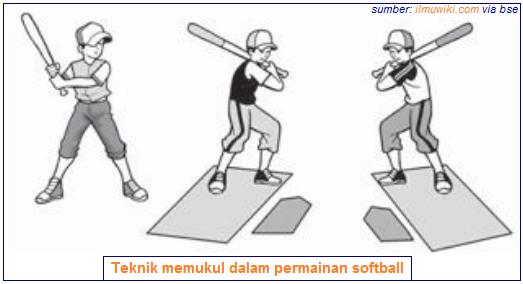 Teknik memukul dalam permainan softball