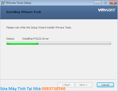Quá trình cài đặt Full Screen trong VMware