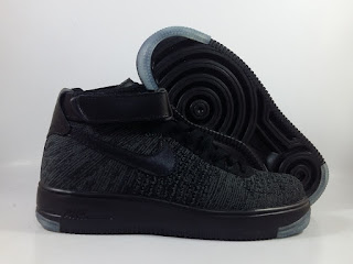 Nike Air Force 1 Flyknit Black Grey