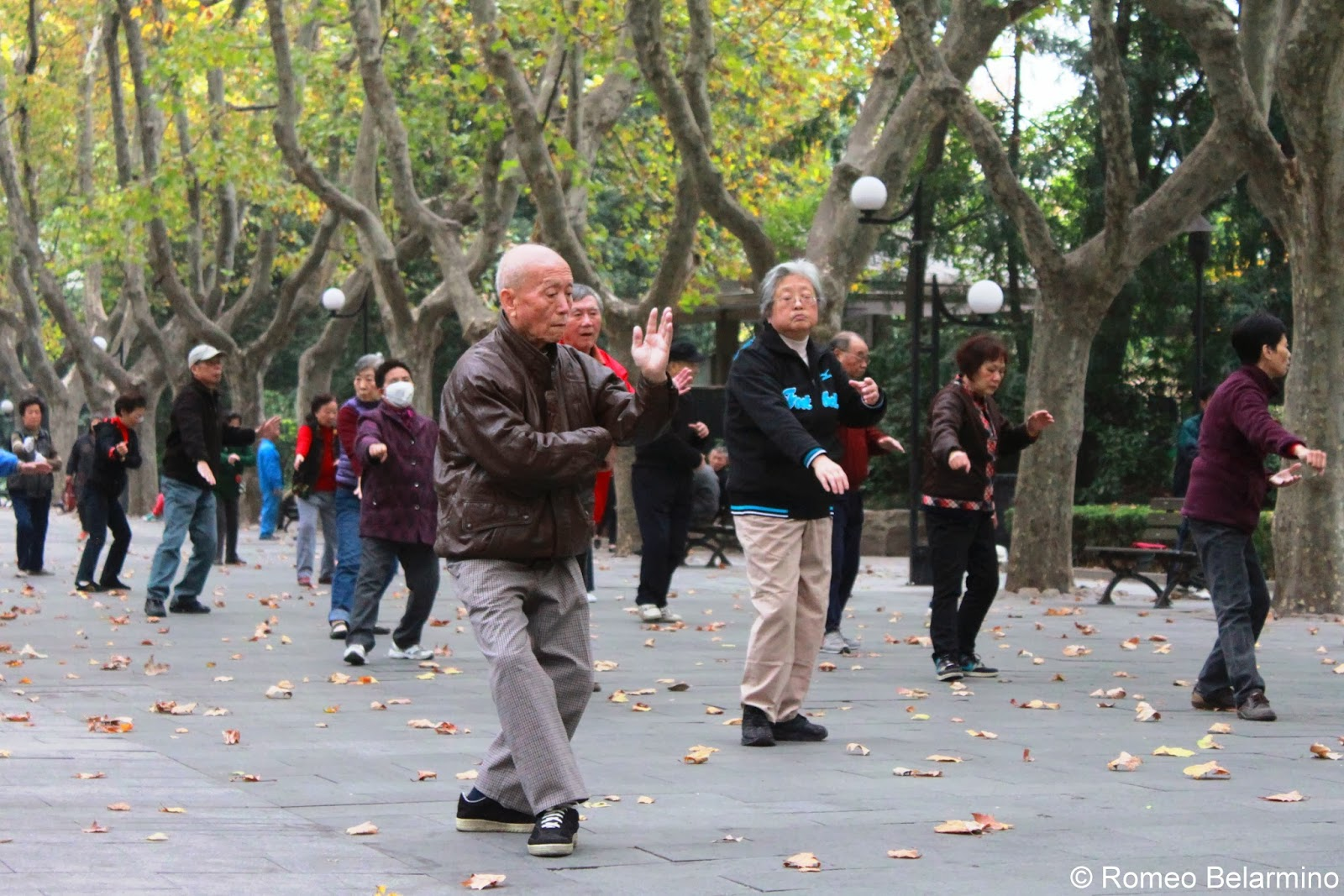 Tai Chi Xiangyang Park Shanghai China