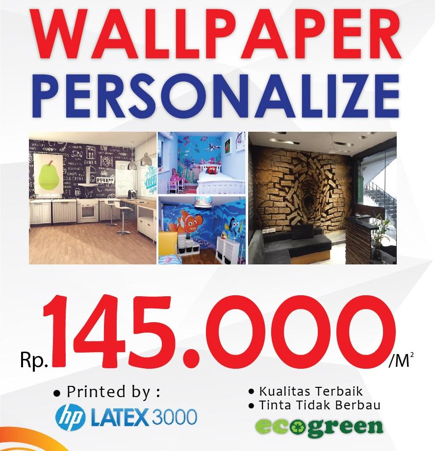 Icp Digital Printing Wallpaper Dinding Murah