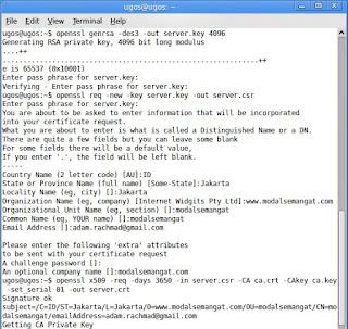 Cara Membuat Sertifikat dengan OpenSSL
