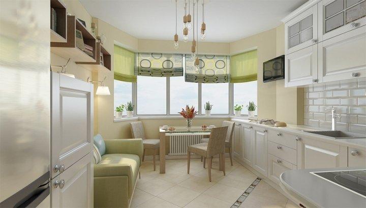 Elegant Kitchen Bay Window Treatments