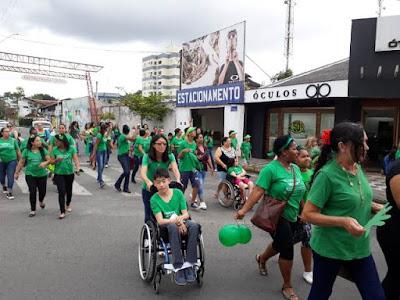 "APAE de Registro-SP realiza passeata""Setembro Verde"""