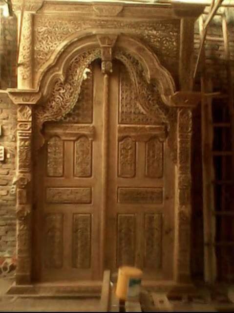 model gebyok pintu jati