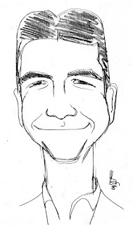 Simon Cowell Caricature Sketch Ian Davy Brown