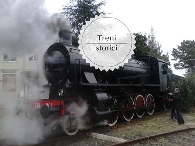 Esposizione treni storici La Spezia. Locomotore treno storico