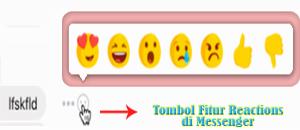 Tampilan Uji Coba Fitur Reactions di Facebook Messenger