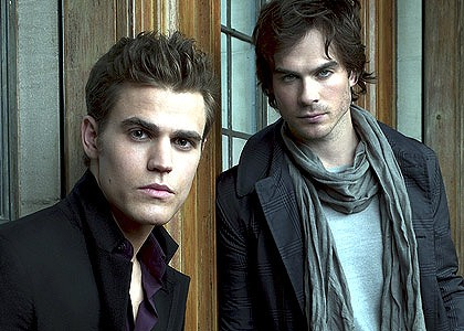 Stefan and Damon Salvatore (Paul Wesley, Ian Somerhalder) from The Vampire Diaries.