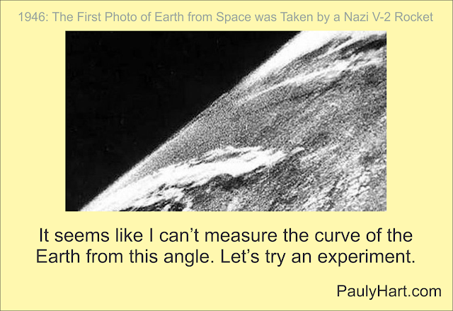 "First Photo From ""Space"" Shows No Curvature"