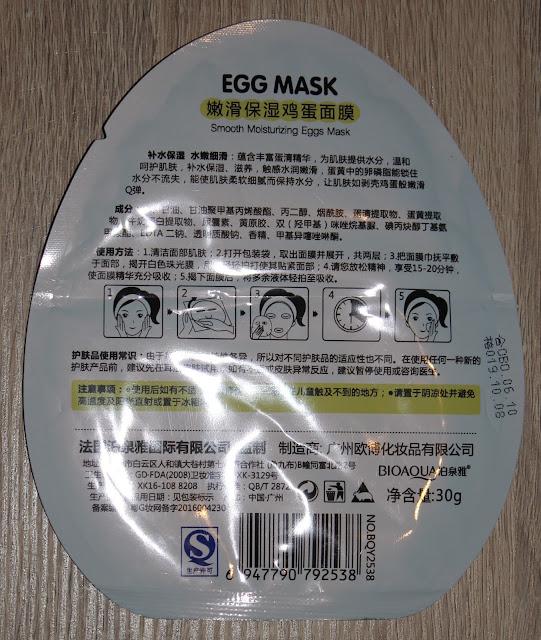 Gebruiksaanwijzing Egg Mask