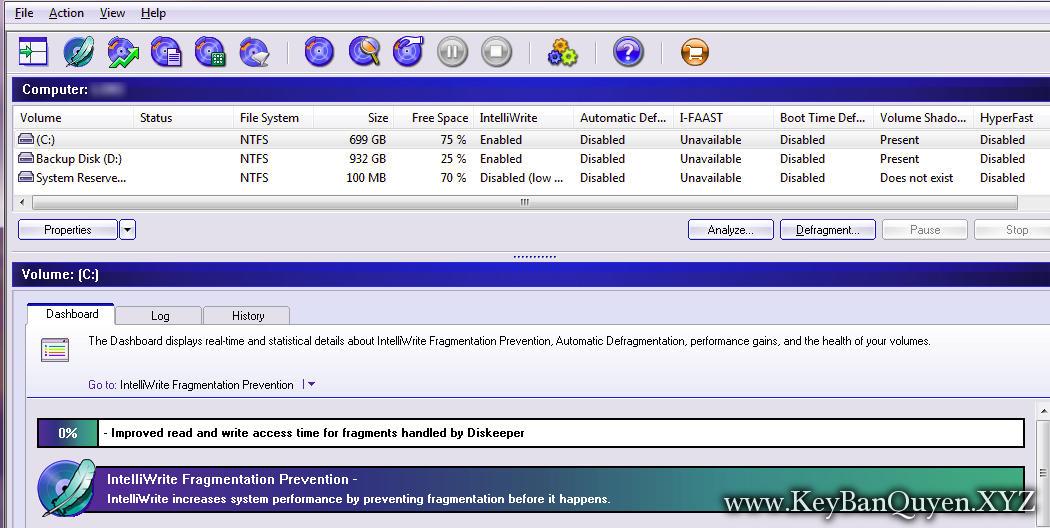 Diskeeper 18.Pro + Server 20.0.1296.0 Full Key, Phần mềm giúp tăng hiệu suất cho Client và máy chủ.