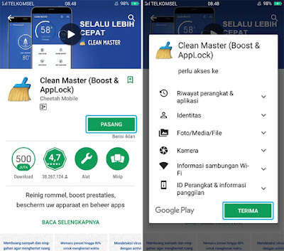Download dan Install Clean Master