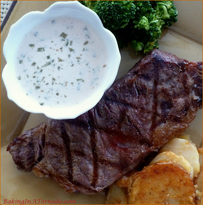 Tangy Horseradish Steak Sauce, a bit of a tang, a bit of a bite, a delicious enhancement to any steak  | Recipe developed by www.BakingInATornado.com | #recipe #dinner