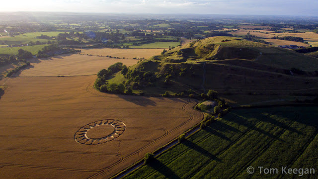 Crop Circle at Cley Hill, Wiltshire, UK - 30 July 2016