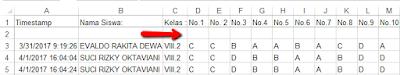 Langkah langkah cara mengolah hasil ulangan online dengan menggunakan Excel