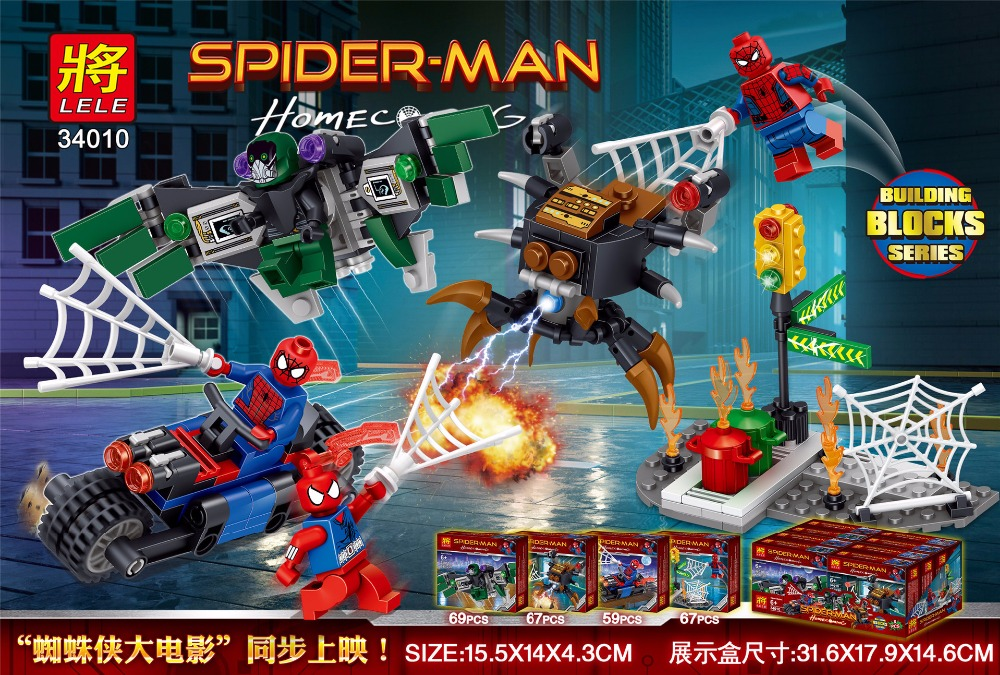 downtheblocks: Lele 34010: Spider-Man Homecoming Mini Builds with ...