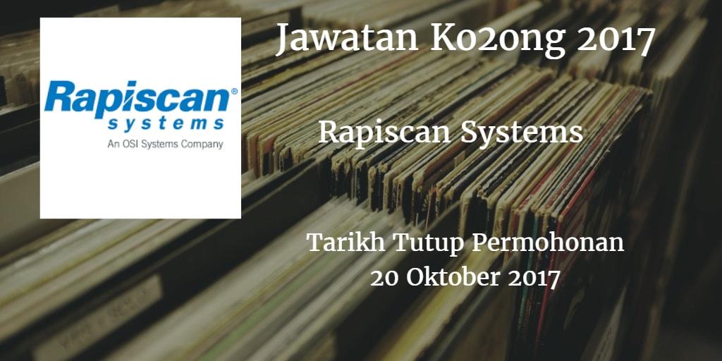 Jawatan Kosong Rapiscan Systems Sdn Bhd 2017