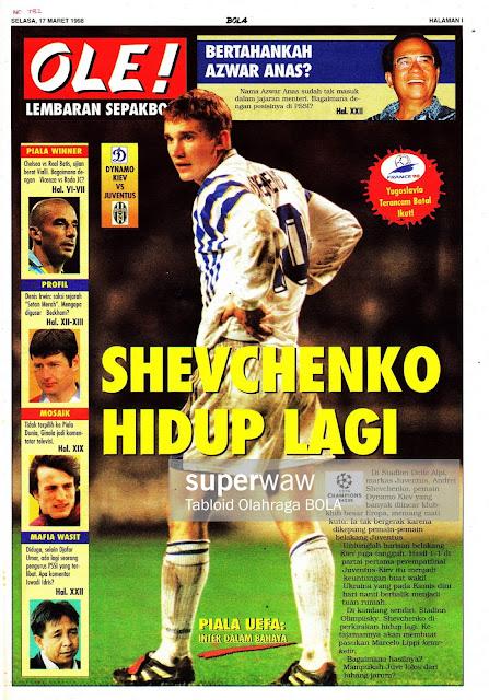 DYNAMO KIEV VS JUVENTUS ANDRIY SHEVCHENKO 1998