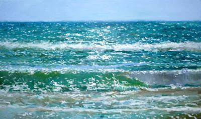 marina al oleo del Mar Mediterráneo