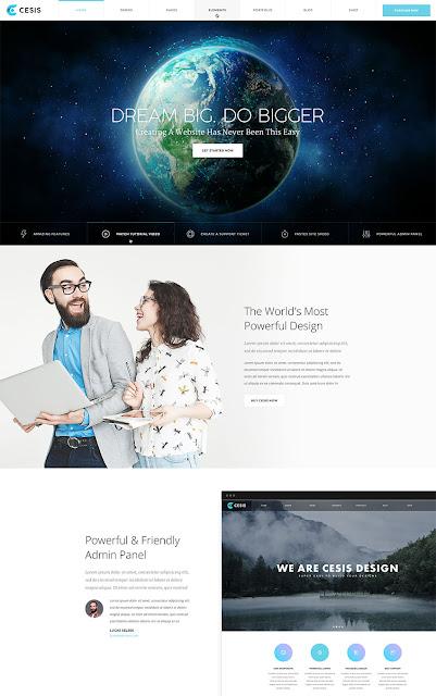 cesis ultimate PSD website template
