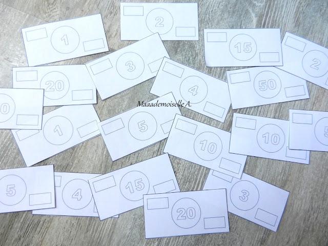 || Acticité/DIY : Des billets à découper et à colorier (+ fichiers à télécharger et imprimer)(L'art est un jeu d'enfant # 3)